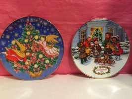 Lot Of (2) AVON Collectible Christmas Plates (1991, 1995) - $12.95