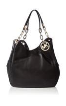 Michael Kors Womens Fulton Large Shoulder Tote Shoulder Bag Black (Black) - $646.41