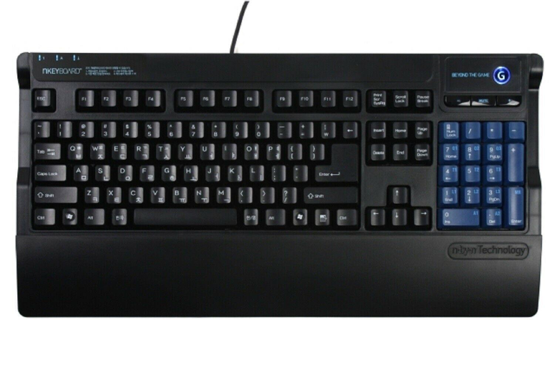 Skydigital Nkey Macro Korean English Gaming Keyboard USB Wired Membrane Keyboard