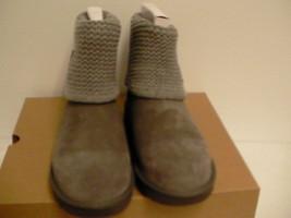 Women's UGG Australia Shaina Grey Gray Knit Boots NEW 1012534 Cuff size 11 - $118.75