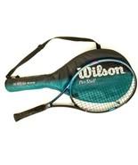 "Wilson Tennis Racket 110"" Pro Staff 6.0 Dual Taper Beam 4-1/4 Grip with ... - $39.59"