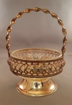 Vintage Hand Made Brama Crystal with Silver Plated Stand (circa 1960s) - $13.50