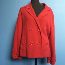 Talbots Knit Double-Breasted Blazer - Size Large - $29.70