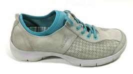 Dansko Sedona Gray Blue Suede Lace Up Elastic Sneakers Womens 42 EU Comfort Shoe - $38.46