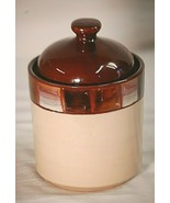 Mosaic Tile Elite by Gibson Kitchen Canister Storage Jar w Lid Two Tone Brown s - $29.69