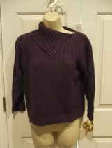 Nwt Newport News Aubergine Ramie Blend 3/4 Sleeve Sweater Small - $18.80