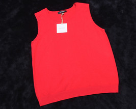 Ellen Tracy Womens Top Shirt Sleeveless Red Size Large L Nwt - $45.22