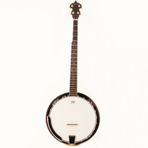Musoo brand 5string banjo with Remo head Solid mahogany with bag - $128.69
