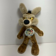 Vintage 1993 Wile E Coyote 24k Mighty Star 14 in Poseable Plush Warner B... - $49.47