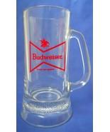 Vintage Budweiser Bowtie Logo Beer Glass Stein Mug 12 Oz. Barware - $3.00