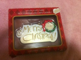 American GREETINGS--MERRY Christmas ORNAMENT--GIFT Card HOLDER----FREE SHIP--NEW - $11.81