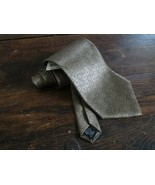 NWT Stafford Options Necktie Tie 100% Italian Silk Textured Taupe  - $14.55