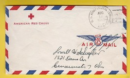 AMERICAN RED CROSS U.S. ARMY POSTAL SERVICE AUGUST 12 1945 FREE MAIL WWII - $2.68