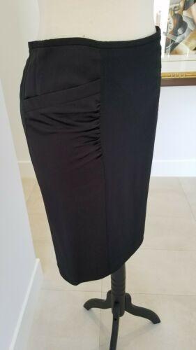 ARMANI COLLEZIONI Black Viscose Like Satin Panels Dress Skirt  Size 8 image 3