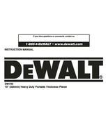 "Dewalt 13 "" Planer Instruction Manual Model #DW735 - $10.88"