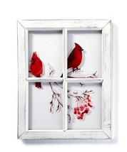 "19.29"" Cardinal White Wash Window Wall Art"
