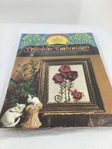 Columbia Minerva Primitive Embroidery Kit Crocheted Wildflowers #3117 19... - $12.19