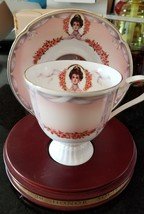 AVON 2000 MRS ALBEE VICTORIAN TEACUP SAUCER SET WITH 22K GOLD TRIM Chris... - $18.32