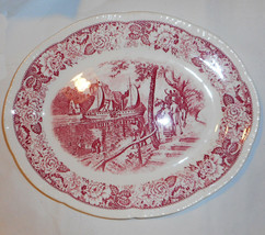 Vtg. HISTORICAL AMERICA.  Homer Laughlin Platter. First American Showboat! - $34.65