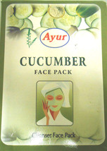 Ayur Cucumber Face Pack Powder 100gm Cleanser Nourishes Skin Removes Dea... - $6.00