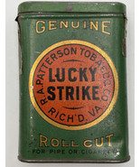 Lucky Strike Roll Cut Tin Vintage Original 1910 Tax Stamp Tobacco Patter... - $80.70