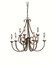 NEW Kichler 2031TZ Dover II Chandelier 9-Light Tannery Bronze 60W Candel... - $379.99