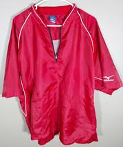 Mizuno Red Mens Quarter Zip Short Sleeve Pullover Windbreaker XL - $13.55