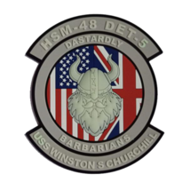 US Navy HSM-48 Dastardly Barbarians DET 5 PVC Patch With Hook and Loop - $15.83