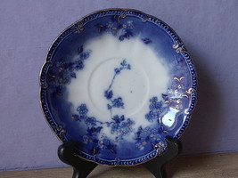 Antique 1910's Ridgway Lugano English Flow Blue china tea cup teacup SAU... - $48.51