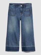 NWT GAP Kids High Rise Wide Leg Crop Jeans 8 Denim Pants - $21.77