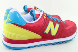 New Balance WL574BFW Size 8.0 Pink Yellow, Blue, white, Red NEW RARE Running - $118.79