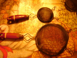 Kitchen Strainers with Red Handles - Vintage - $15.00