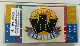 28 Multi Color Deluxe Dominoes In Plastic Case - $8.15