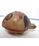 "MEXICO COLUMBIA PERU POTTERY TURTLE ART HAND MADE CLAY CERAMIC 6"" X 4"" - $49.95"