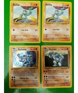Machop Machoke Machamp Holographic 8/102 1st Edition Pokemon Cards lot of 4 - $618.75