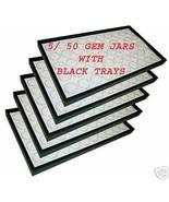 5 Trays 50 gem jars Gems Organizer gemstone foam insert - $74.95