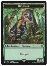 Magic the Gathering Dinosaur / Treasure Ixalan Foil FNM Promo Token Card - $4.95