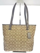 Coach Taylor Tote in Signature Color Block Jacquard Zipper on front Brow... - $148.50
