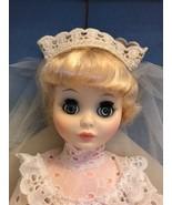 "Miss Ginny vogue 15"" doll in white wedding dress - $32.73"