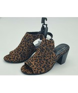Name brand Wedge Sandals Time & Tru Sizes Size 6W Leopard Natural Animal... - $15.99