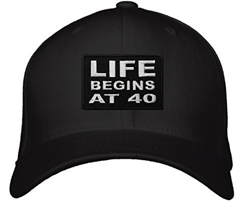 Life Begins At 40 Hat - Adjustable Mens Black