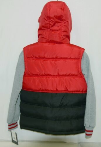 Weatherproof OBZCE0P Boys Jacket Color Black Red and Gray Size Small B Item