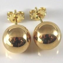 Gelbgold Ohrringe 750 18K, Kugel, Poller, Kugeln, Verschluß Schmetterling - $110.86+
