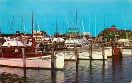 Cape May New Jersey~Schellenger's Landing~Boats~1957 Postcard - $6.80