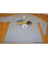 PITTSBURGH STEELERS NFL CHAMPIONS T-Shirt LARGE NEW - $18.32