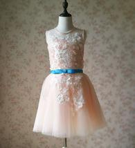 Blush Sleeveless Lace Tulle Flower Girl Dress Toddler Blush Princess Dress NWT image 3