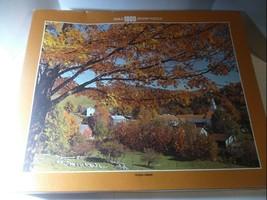 """Topsham Vermont 1000 Pc Puzzle - Vintage - Whitman Guild, 21 1/2"""" x 27 1/2"""" New! - $15.79"""