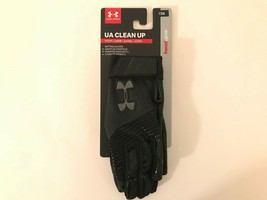 Under Armour UA Clean Up YSM Youth Small Black Baseball Gloves 1299531 - $19.32