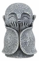 "Ebros Japanese Happy Joyful Elated Jizo Monk Miniature Statue 3"" Tall Bodhisattv - $11.99"