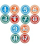 Amazon Onesie Stickers, BOYS CIRCLES Baby Month Onesie Stickers Baby Sho... - $12.59